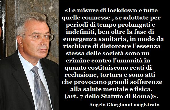 LOCKDOWN: CRIMINI CONTRO L'UMANITA'. Denuncia di Giorgianni all'Aja – La Forza della Verità